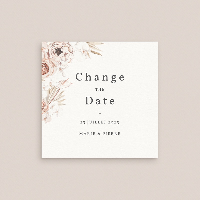 Change the date mariage Bois de Santal, Date reportée gratuit