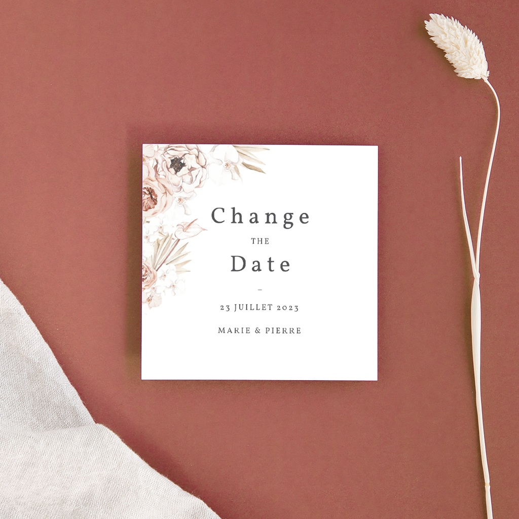 Change the date mariage Bois de Santal, Date reportée