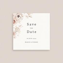 Save-the-date mariage Bois de Santal, 10 x 10 cm gratuit
