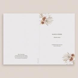 Livret de messe mariage Bois de Santal, Couverture gratuit