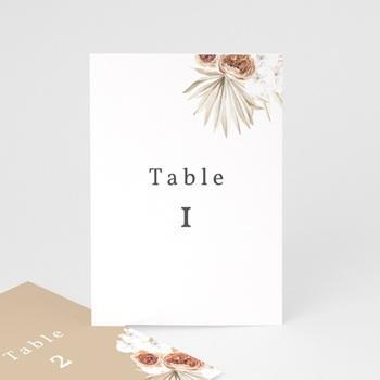 Marque table mariage Bois de Santal, Lot de 3