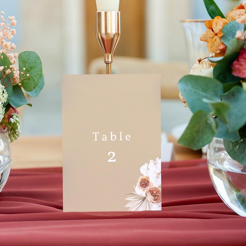 Marque table mariage Bois de Santal, Lot de 3 gratuit
