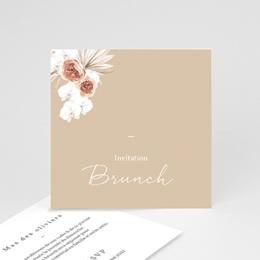 Carte invitation Brunch Bois de Santal