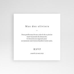 Carte invitation Brunch Bois de Santal pas cher