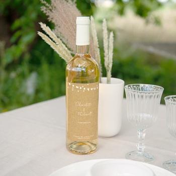 Etiquette bouteille mariage Perfect Day Kraft, Vin, 8x13 cm