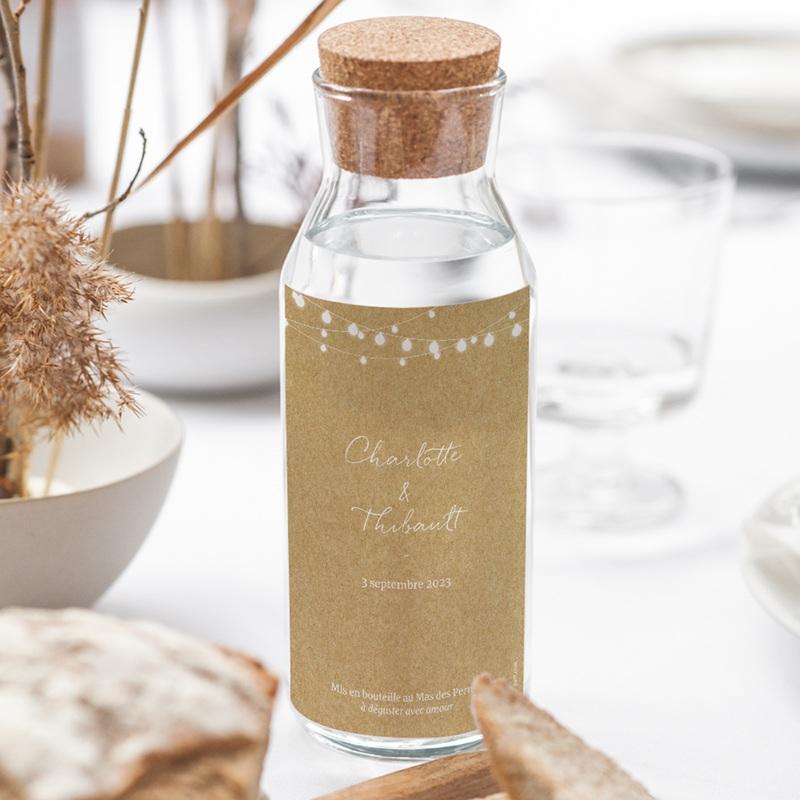 Etiquette bouteille mariage Perfect Day Kraft, Vin, 8x13 cm gratuit