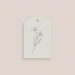 Etiquettes cadeaux mariage Silhouette de Lys, Cadeau pas cher