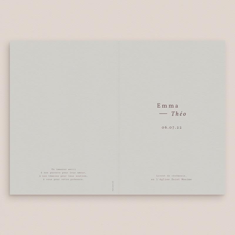 Livret de messe mariage Silhouette de Lys, 15 x 22 gratuit