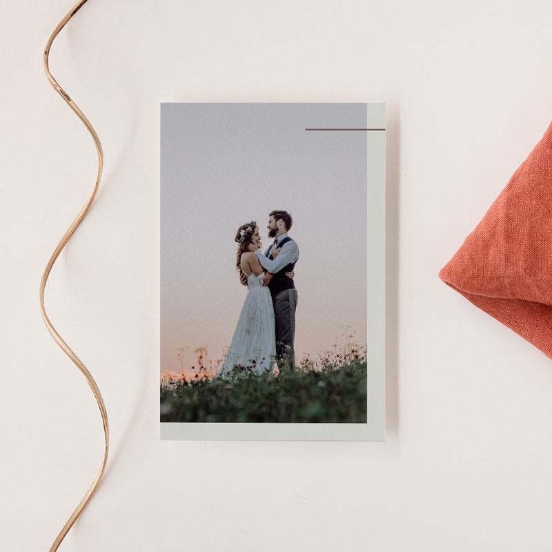 Carte de remerciement mariage Silhouette de Lys, Portrait
