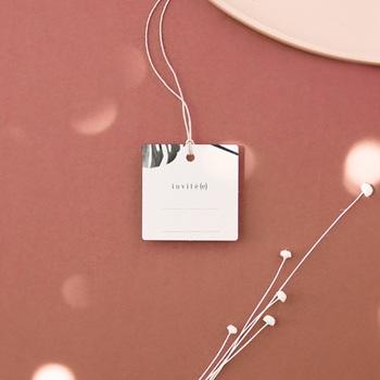 Etiquettes cadeaux mariage Monstera, souvenir