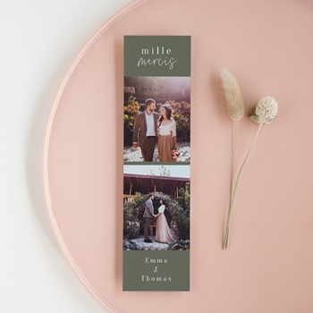 Carte de remerciement mariage à faire soi-même