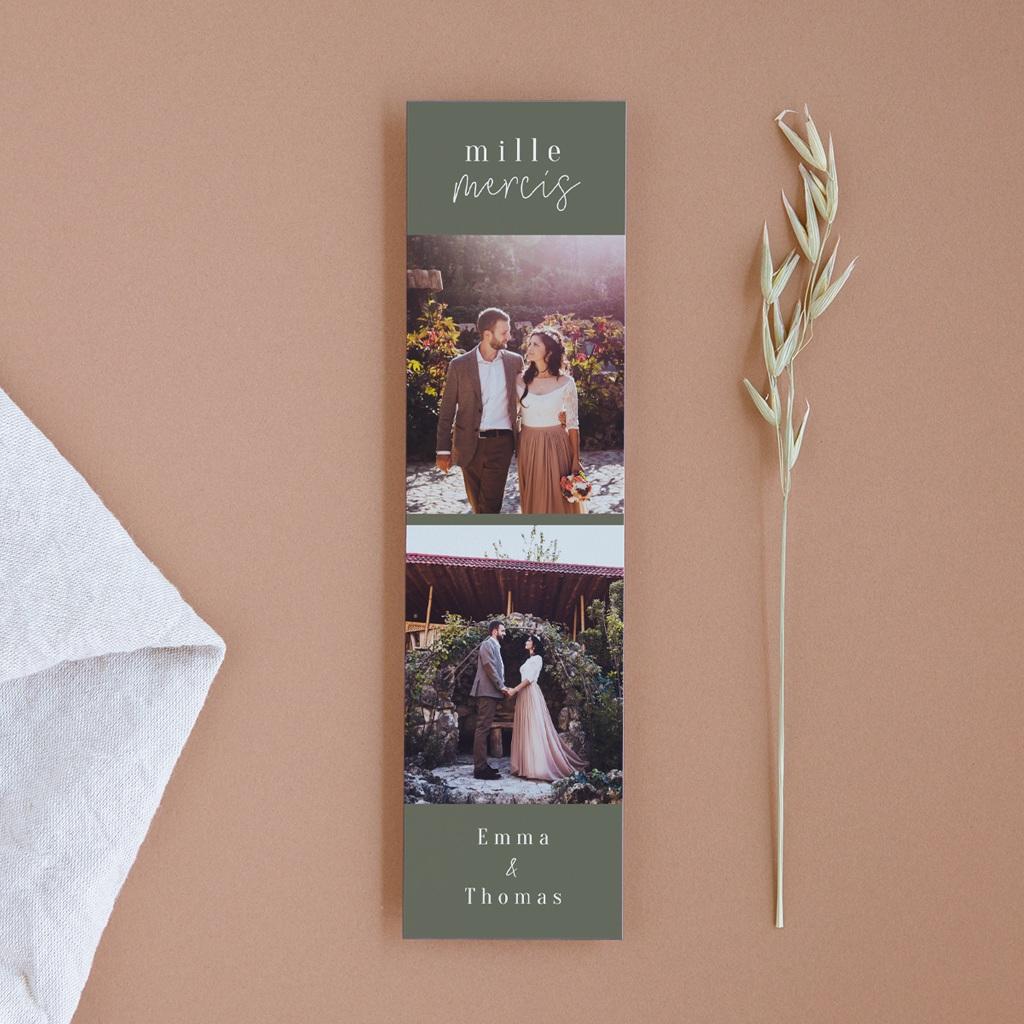 Carte de remerciement mariage Bananier Monstera, 2 photos