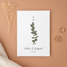 Faire-part de mariage Eucalyptus Herbarium