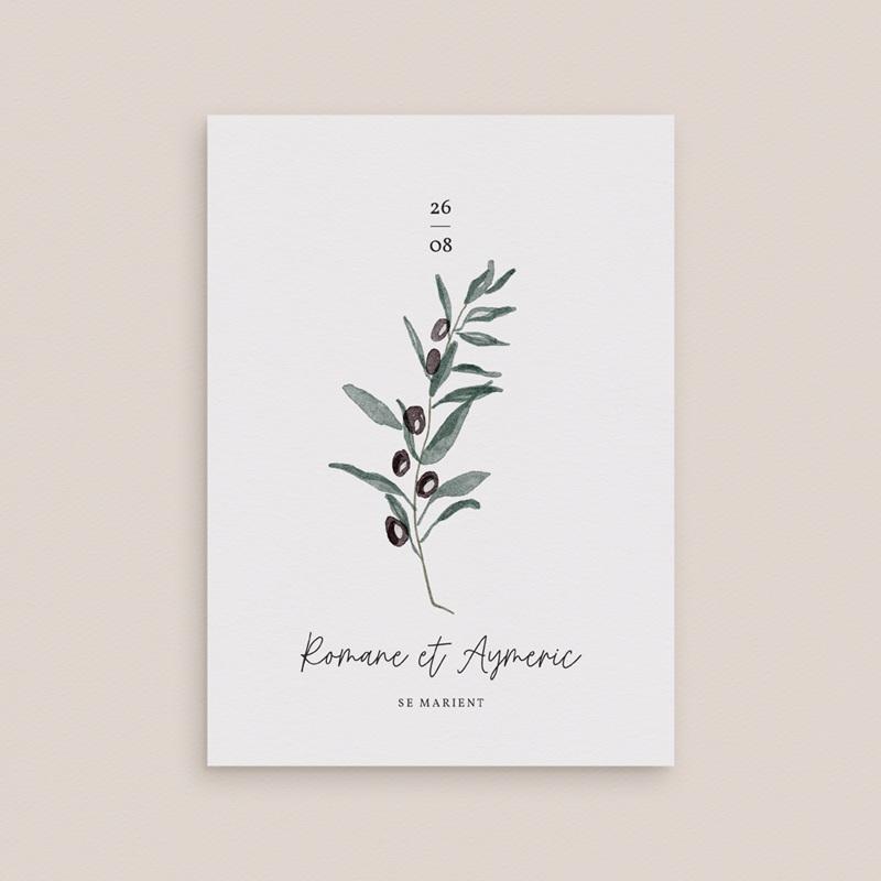 Faire-part de mariage Olivier Herbarium gratuit