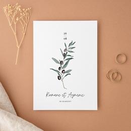 Faire-part de mariage Olivier Herbarium