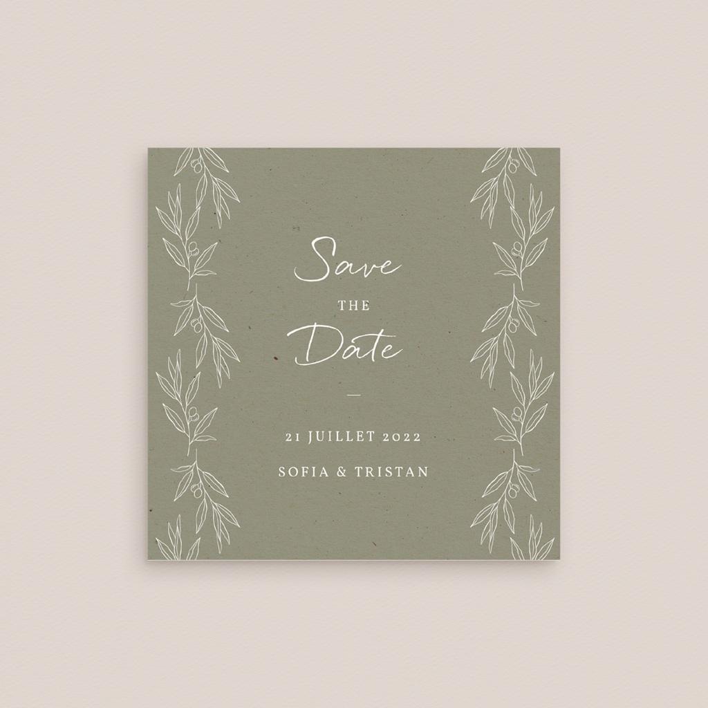 Carte anniversaire de mariage nature Brin Olivier, naturel gratuit