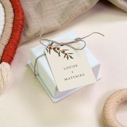 Etiquettes cadeaux mariage Rameau bohème, Souvenir invité