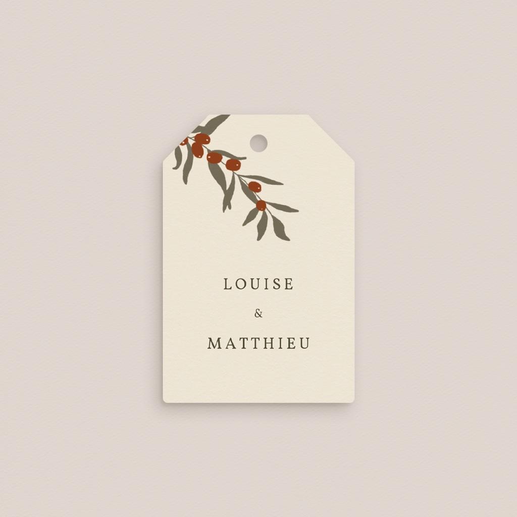 Etiquettes cadeaux mariage Rameau bohème, Souvenir invité pas cher