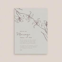 Faire-part de mariage Silhouette de Lys, Taupe Clair gratuit