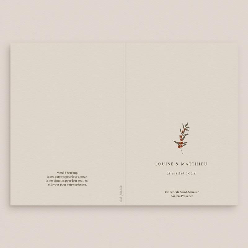 Livret de messe mariage Rameau bohème, Couverture gratuit