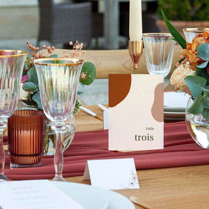 Marque table mariage Rameau bohème, Lot de 3 pas cher