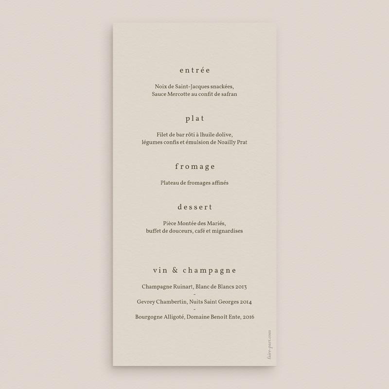 Menu mariage Rameau bohème, repas de noces pas cher
