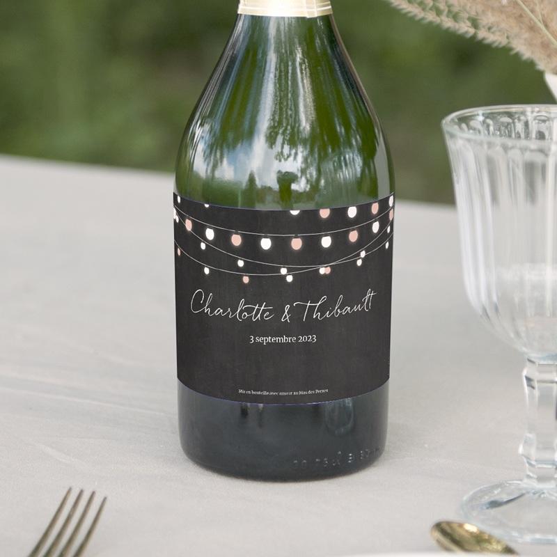 Etiquette bouteille mariage Perfect Day Ardoise, Lot de 8