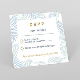 Carton réponse mariage Soft Jungle