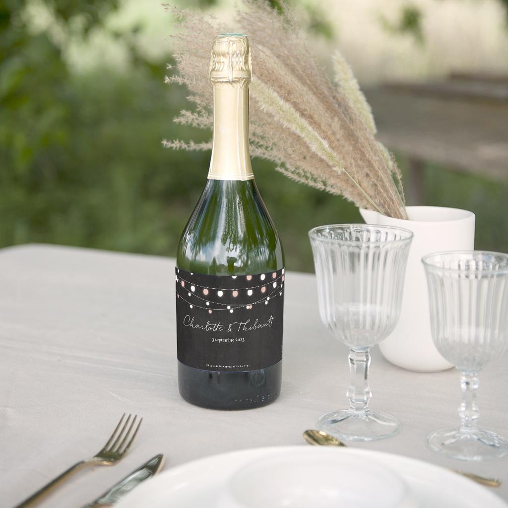 Etiquette bouteille mariage Perfect Day Ardoise, Lot de 8 gratuit