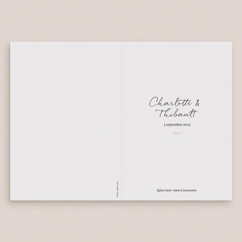 Livret de messe mariage Perfect Day Ardoise, Couverture gratuit
