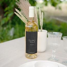 Etiquette bouteille mariage Perfect Day Ardoise, vin