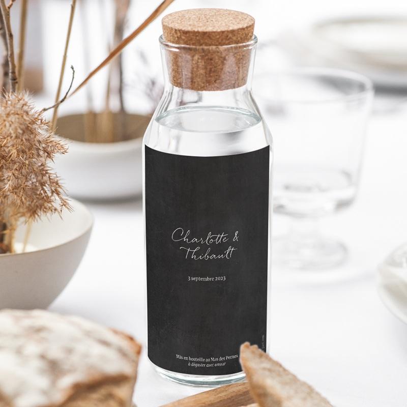 Etiquette bouteille mariage Perfect Day Ardoise, vin gratuit