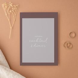 Carte d'invitation mariage Silhouette de Lys, Cocktail & Dîner