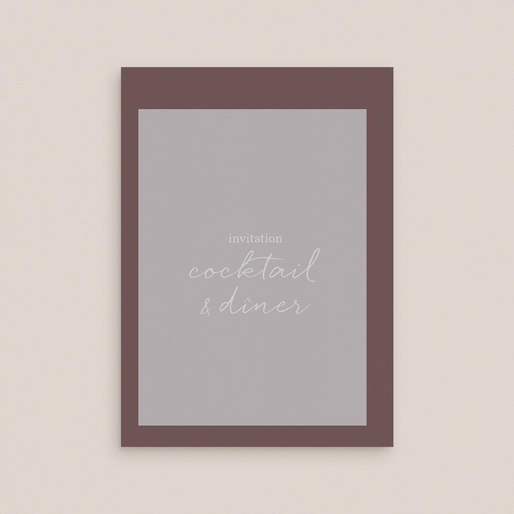 Carte d'invitation mariage Silhouette de Lys, Cocktail & Dîner gratuit