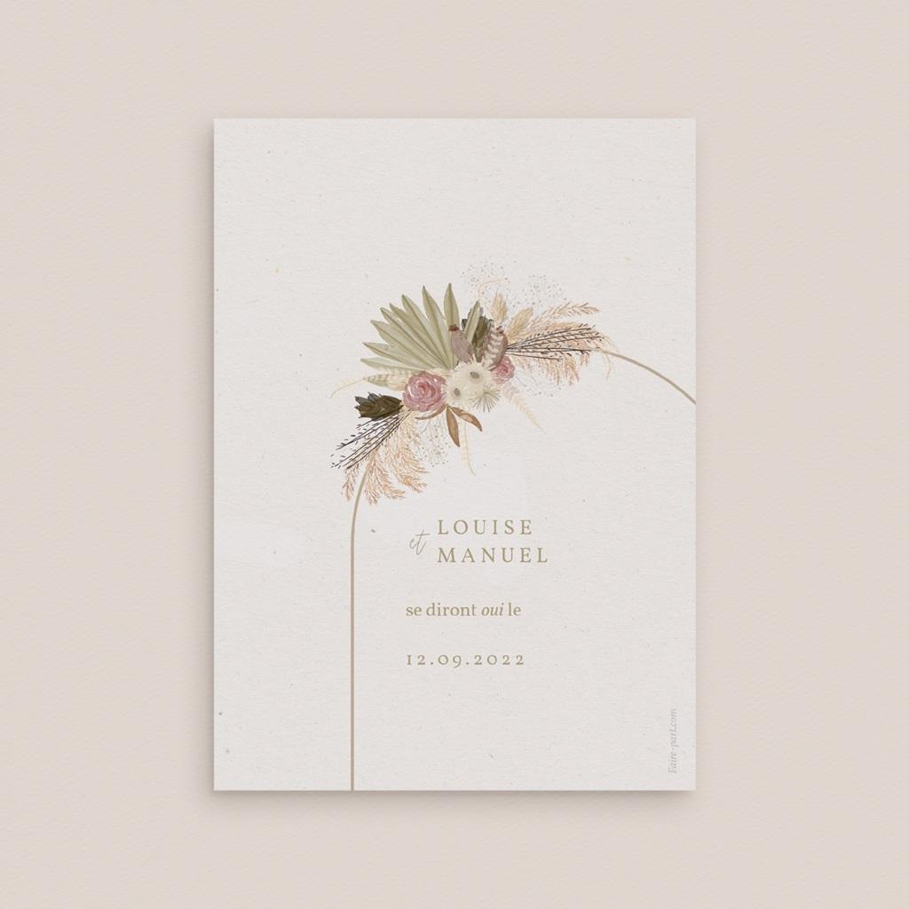Carte anniversaire de mariage nature Arche boho, végétal, Jour J pas cher