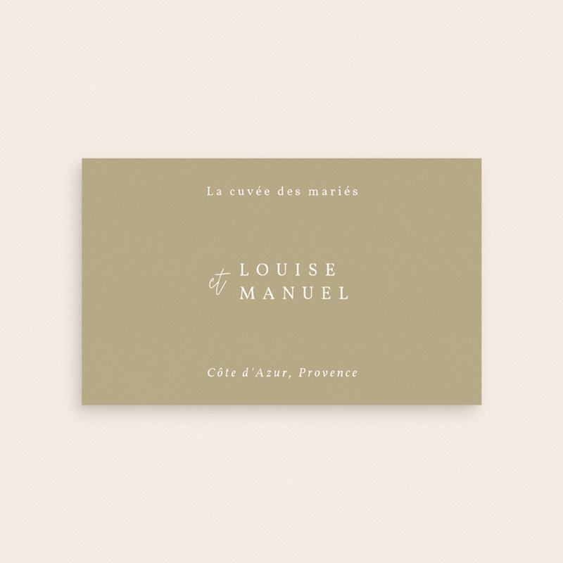 Etiquette bouteille mariage Arche boho, végétal, Champagne pas cher
