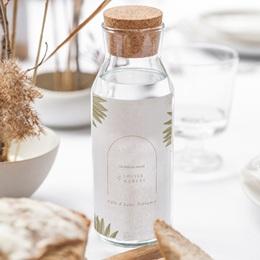 Etiquette bouteille mariage Arche boho, végétal, Vin gratuit