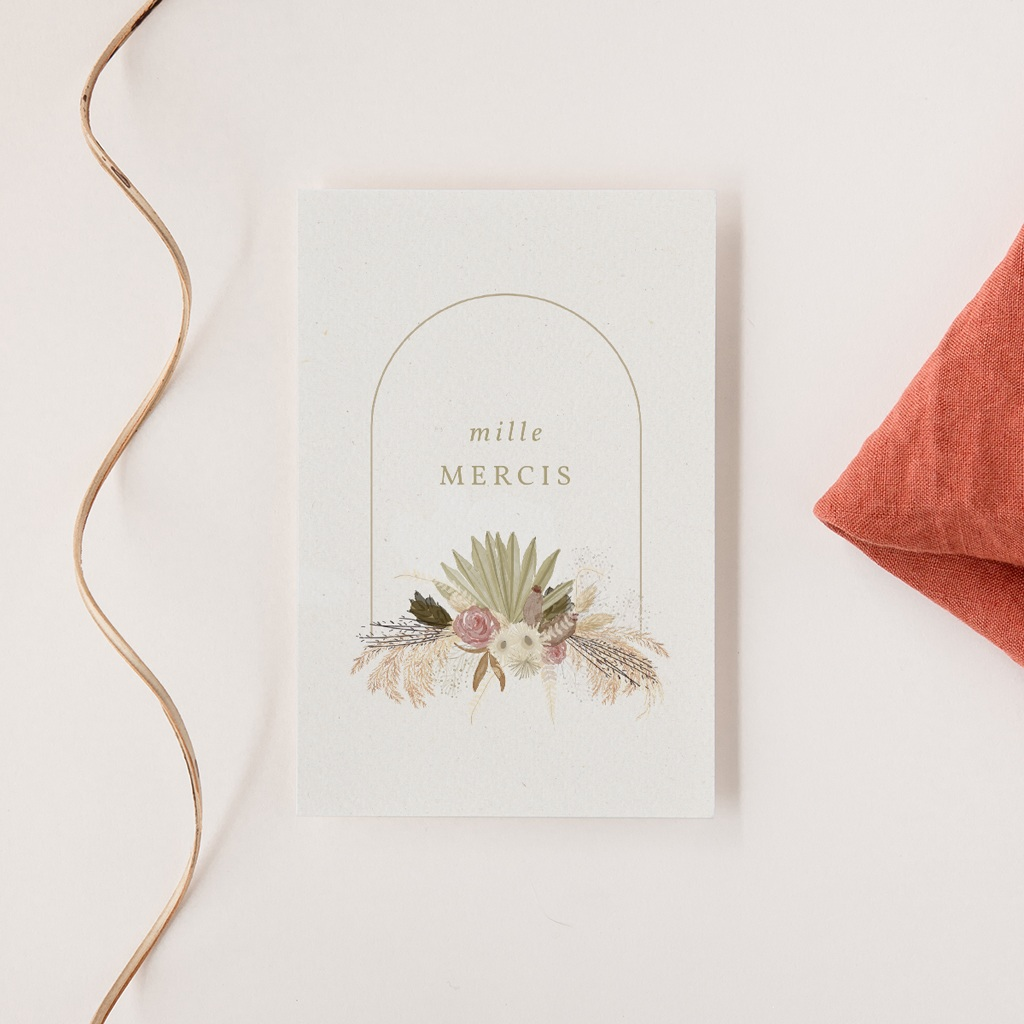 Faire-part de mariage automne Arche boho, végétal, 10 x 15 cm