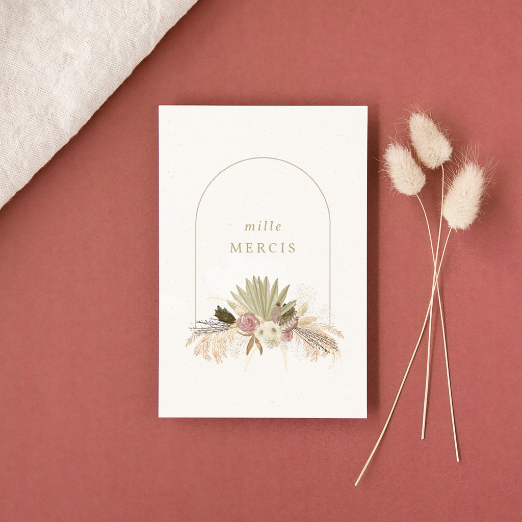 Faire-part de mariage automne Arche boho, végétal, 10 x 15 cm gratuit