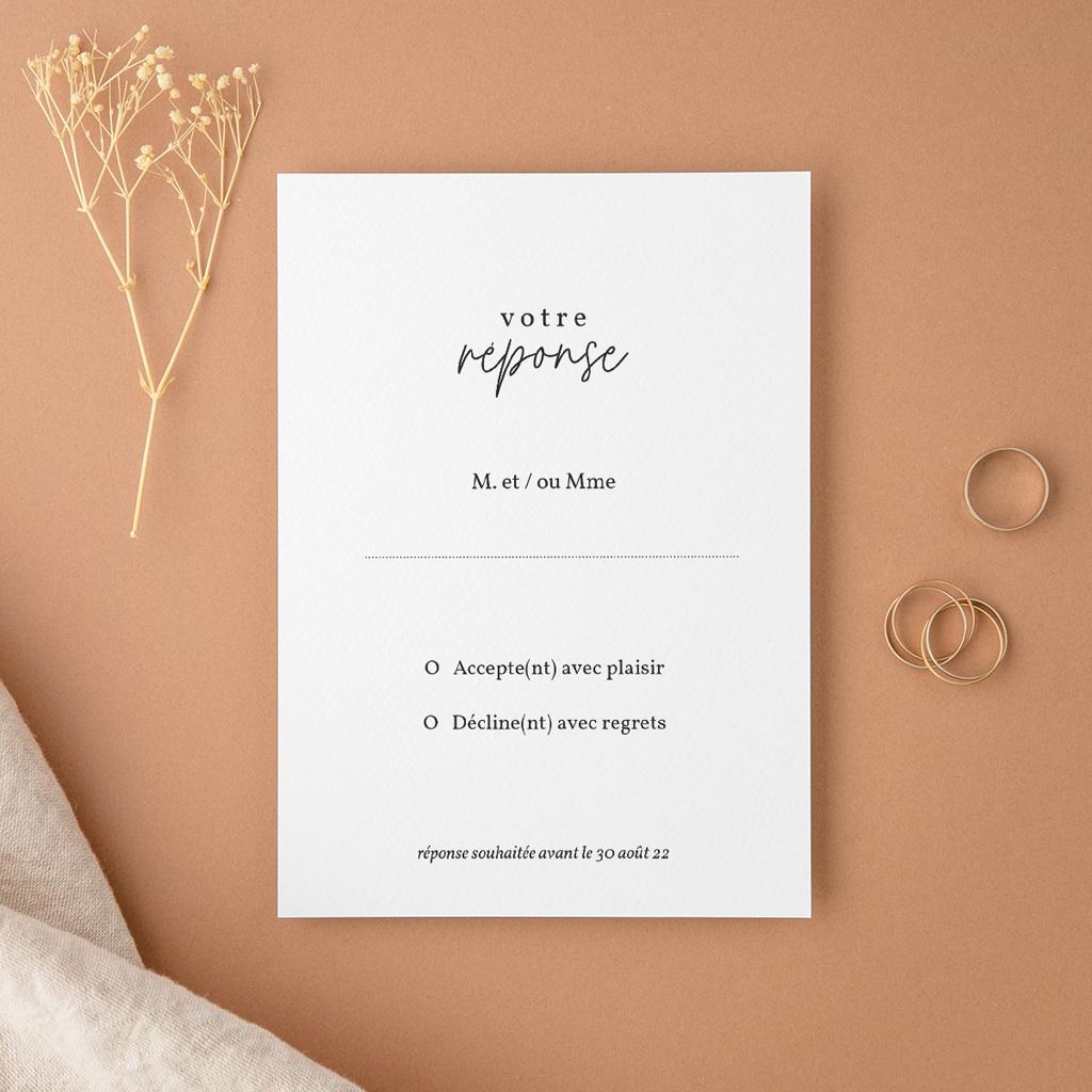Carton réponse mariage Eucalyptus Herbarium, Rsvp