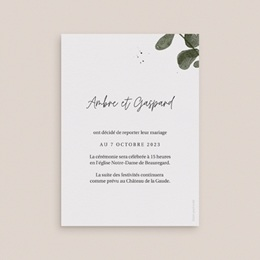 Change the date mariage Eucalyptus Herbarium, date reportée pas cher