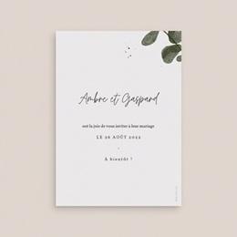 Save-the-date mariage Eucalyptus Herbarium, Jour J pas cher
