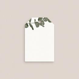 Marque-place mariage Eucalyptus Herbarium, invité placé gratuit