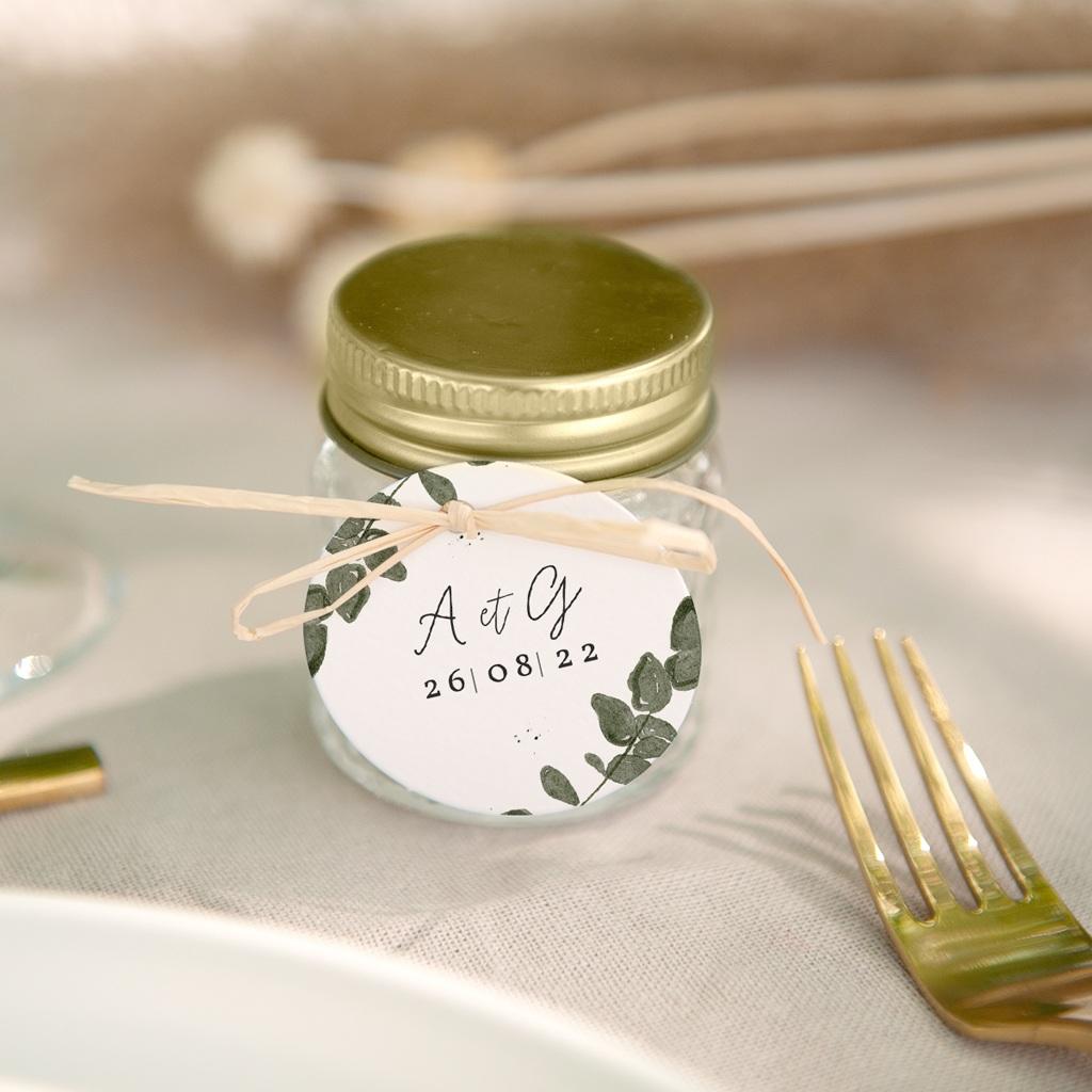 Etiquettes cadeaux mariage Eucalyptus Herbarium, cadeau souvenir