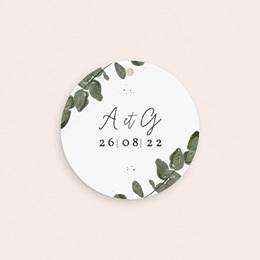 Etiquettes cadeaux mariage Eucalyptus Herbarium, cadeau souvenir gratuit