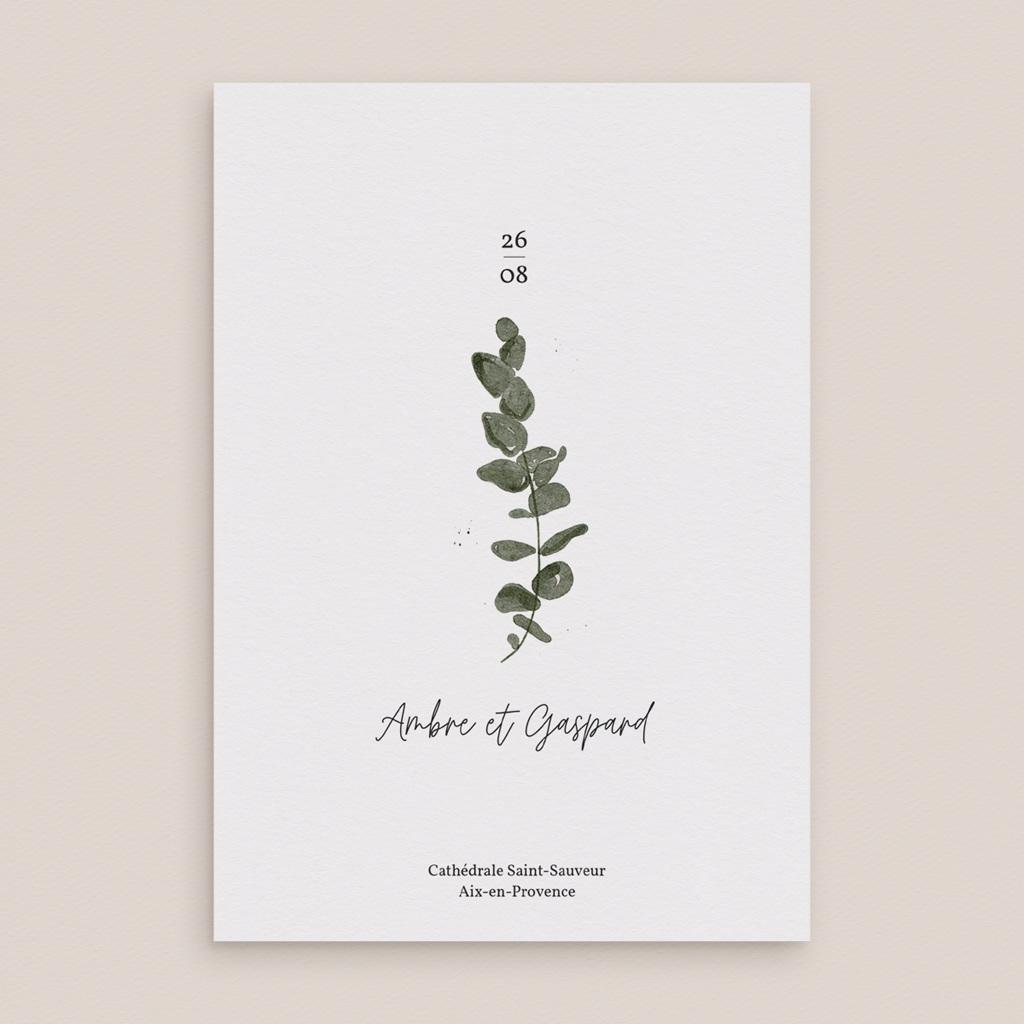 Livret de messe mariage Eucalyptus Herbarium, couverture livret pas cher