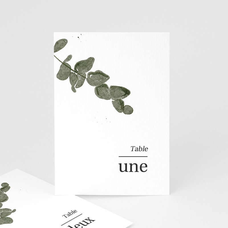Marque table mariage Eucalyptus Herbarium, Lot de 3 repères