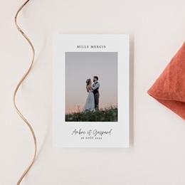 Carte de remerciement mariage moderne Eucalyptus Herbarium, portrait