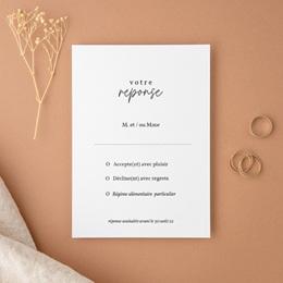 Carton réponse mariage Fougères Herbarium, Rsvp