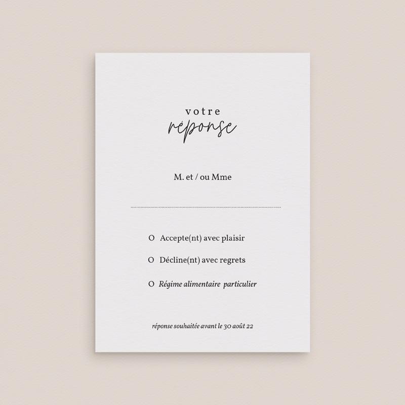 Carton réponse mariage Fougères Herbarium, Rsvp gratuit